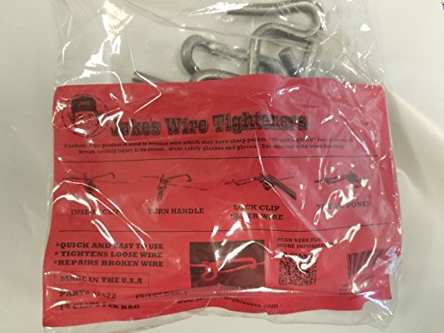 Jakes Wire Tighteners Heavy Duty 5 16 15 Count Bag and Handle Tool