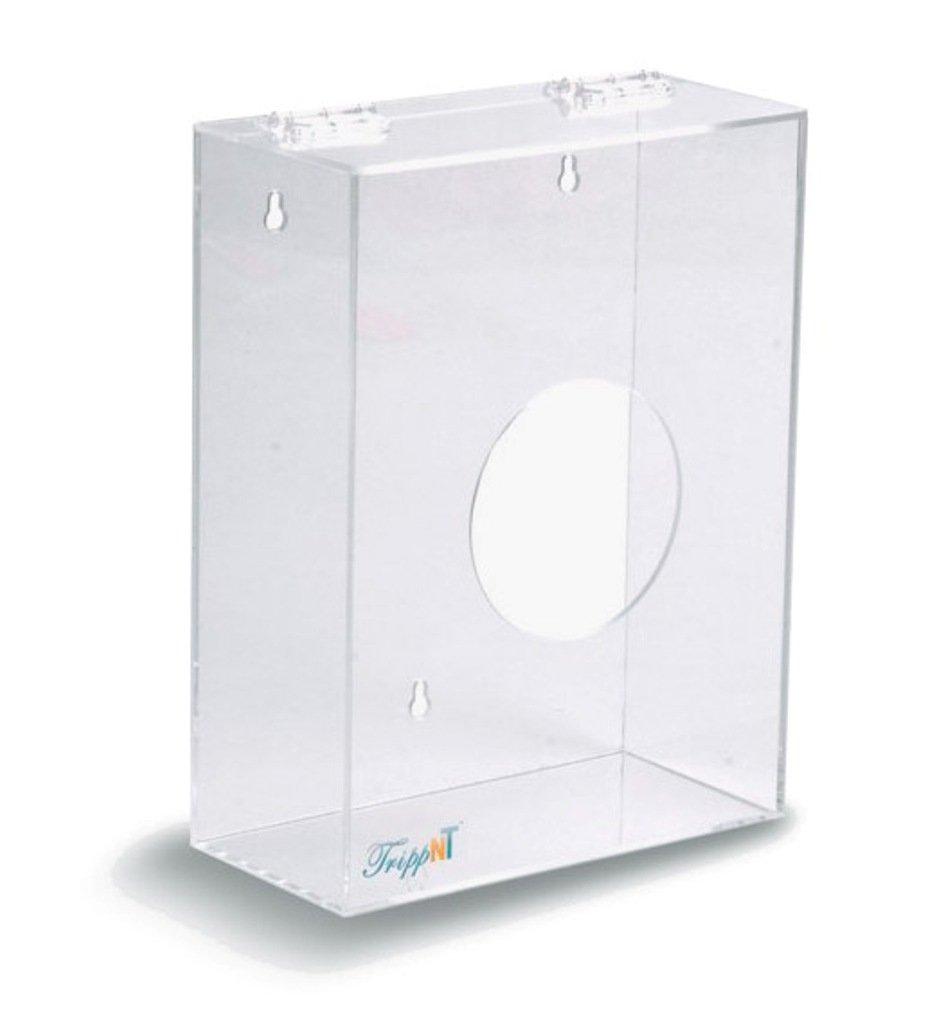 TrippNT 50043 Clear Acrylic Hairnet Dispenser, Small, 11'' W x 8.5'' H x 4'' D