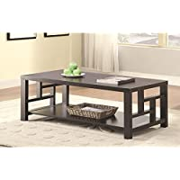 Coaster 703538 Home Furnishings Coffee Table, Cappuccino