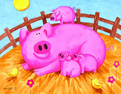 Pink Pigs 63 Piece Jigsaw Puzzle by SunsOut