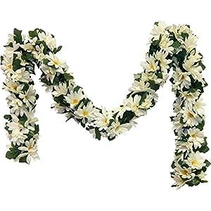 Cream Ivory Daisies Chain Garland 5 ft Silk Wedding Decoration Flowers Artificial Arrangement Arch Gazebo Daisy 31