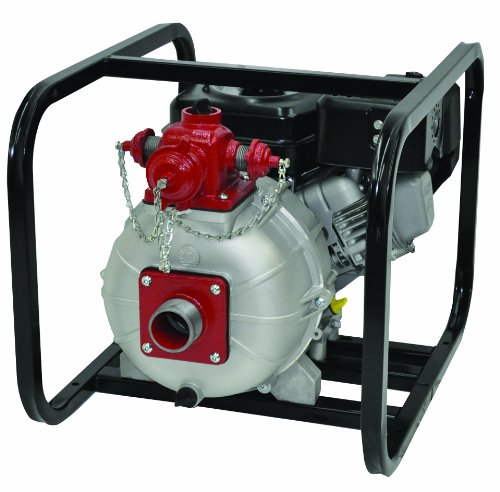 "AMT Pump 2MP9HR Engine Driven Two Stage High Pressure/Fire Pump with Honda GX270 Engine, Aluminum, 9 HP, Curve C, 2"" NPT Female, 3-Way Discharge"