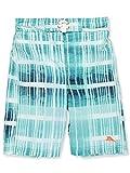 Tommy Bahama Boys' Big Microsatin Swim Trunks, Turquoise Stripe, M