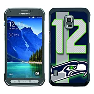 Beautiful Samsung Galaxy S5 Active Cover Case ,Newest And Durable Designed Case With Seattle Seahawks (2) Black Samsung Galaxy S5 Active Case Unique And Cool Phone Case