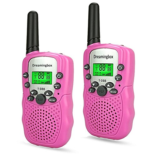 WIKI 3 4 5 Year Old Girl Toys, Long Range Walkie Talkies for Kids Halloween Toys for 6-8 Year Old Girls 2018 Christmas New Gifts for 3-12 Year Old Girls Stocking Suffer Xmas Pink WKUSDJJ06 -