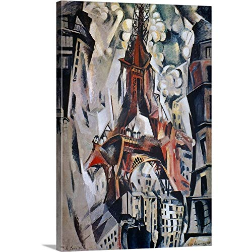 (GREATBIGCANVAS Gallery-Wrapped Canvas Entitled Eiffel Tower, 1910 by Robert Delaunay 24