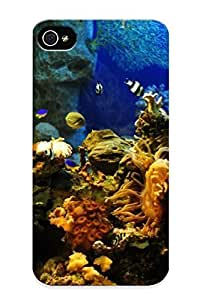 QnjMvYb465HcRJk New Premium Flip Case Cover Tropical Fish In Aquarium Skin Case For Iphone 4/4s As Christmas's Gift