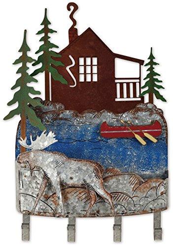 Sunset Vista Designs Woodland Moose Wall Mounted Key Rack Organizer from Sunset Vista Designs