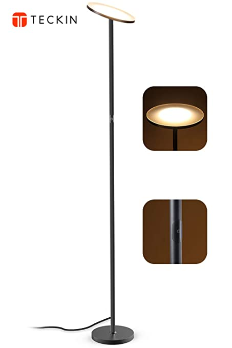 LED Floor Lamp, Torchiere Floor Lamp, Tall Standing Uplight Industrial Floor  Lamps Stepless Dimmable