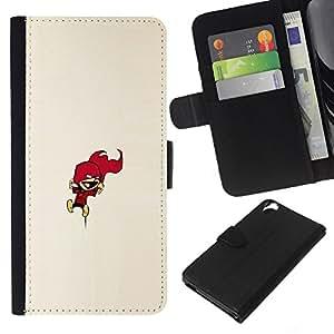 LECELL--Cuero de la tarjeta la carpeta del tirón Smartphone Slots Protección Holder For HTC Desire 820 -- Calvin Encimera --