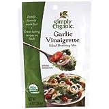 Simply Organic Garlic Vinaigrette Dressing, 1-Ounce Packets (Pack of 24)