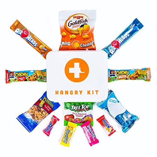 HARD PLASTIC HANGRY EMERGENCY SNACK KIT - PERFECT GIFT PACK - GREAT FOR BIKING, HIKING, CAMPING, SPORTS, MOTORCYCLE RIDES, COLLEGE KIDS !!!!! (Mini) (Survival Kit Moving)