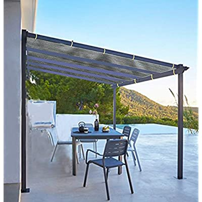 Shatex Shade Panel Block 90% of UV Rays with Ready-tie up Ribbon for Pergola/Greenhouses/Carport/Porch 6x14ft Grey : Garden & Outdoor