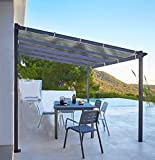 Shatex Shade Panel Block 90% of UV Rays with Ready-tie up Ribbon for Pergola/Greenhouses/Carport/Porch 8x12ft Grey