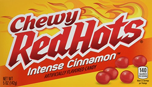 Red Hots Chewy Intense Cinnamon Candy, 5 Ounce Theatre Box, Pack of 12