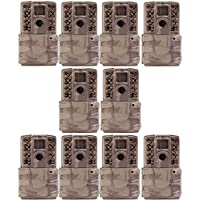 Moultrie A-30i 12MP 60 HD Video No Glow Infrared Game Trail Camera (10 Pack)