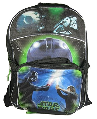 Star Wars Darth Vader and Luke Full Size Backpack with Detachable Lunch Bag