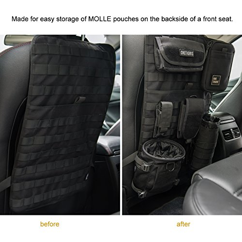 OneTigris Car Seat Back Organizer, Tactical MOLLE Vehicle Panel Car Seat Cover Protector Universal...