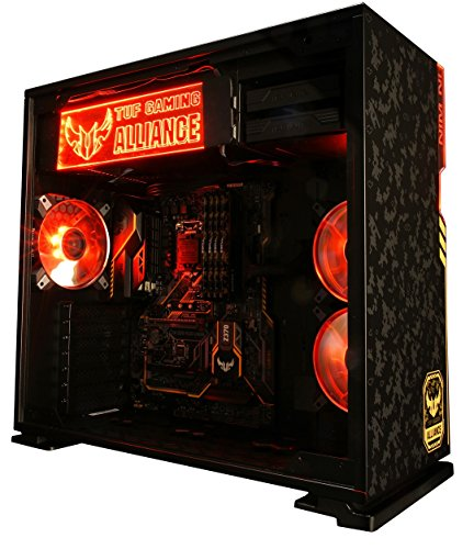 InWin 101 ASUS TUF Theme ATX Mid Tower Gaming Computer case with Tempered Glass Black (101 TUF)