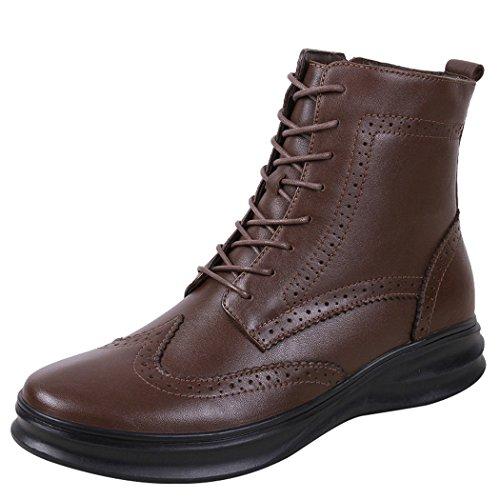 図書館ギャング手荷物LANSI(レンシー)メンズ ブーツ アウトドア ワークブーツ 本革 ブーツ カジュアルシューズ 裏ボア 冬 防寒 靴 エンジニアブーツ ショートブーツ