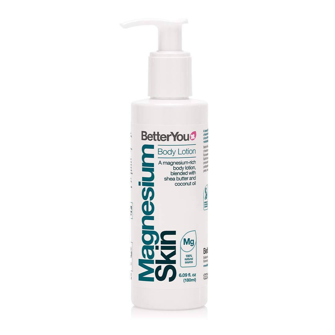 BetterYou Magnesium Body Lotion | Transdermal Magnesium Lotion for Skin Health and Relaxation | Palm-Oil Free | Bottle: 6 fl oz