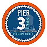 Pier 3 Single-Cup Coffee for Keurig K-Cup Brewers, Dark Roast, 40 Count