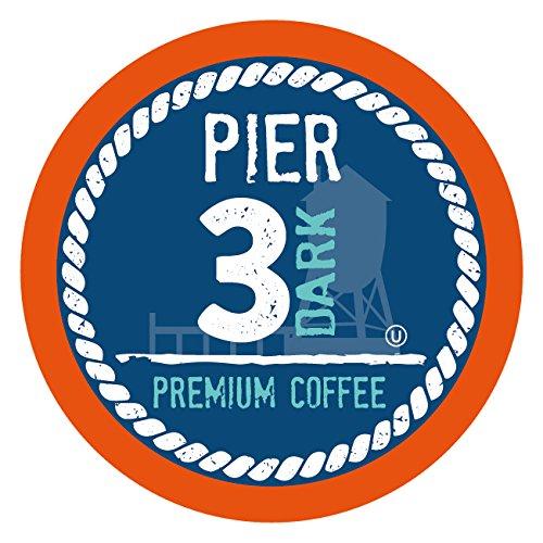 Pier 3 Single-Cup Coffee for Keurig K-Cup Brewers, Dark Roast, 40 Count