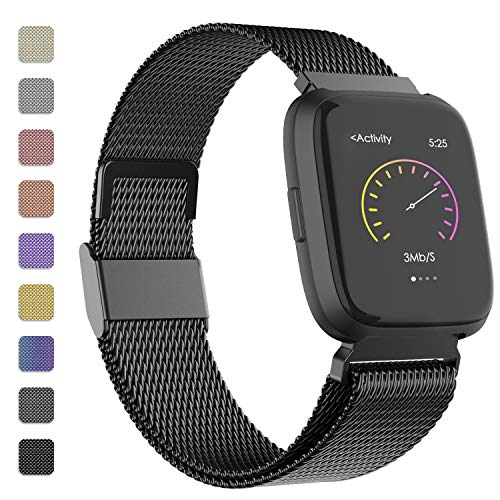 iGK Metal Replacement Bands Compatible for Fitbit Versa/Versa Lite Edition/Versa 2
