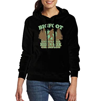 Amazon.com: Bigfoot Undefeated Hide and Seek Champion Hoodies Sweatshirts Pocket for Womens: Clothing