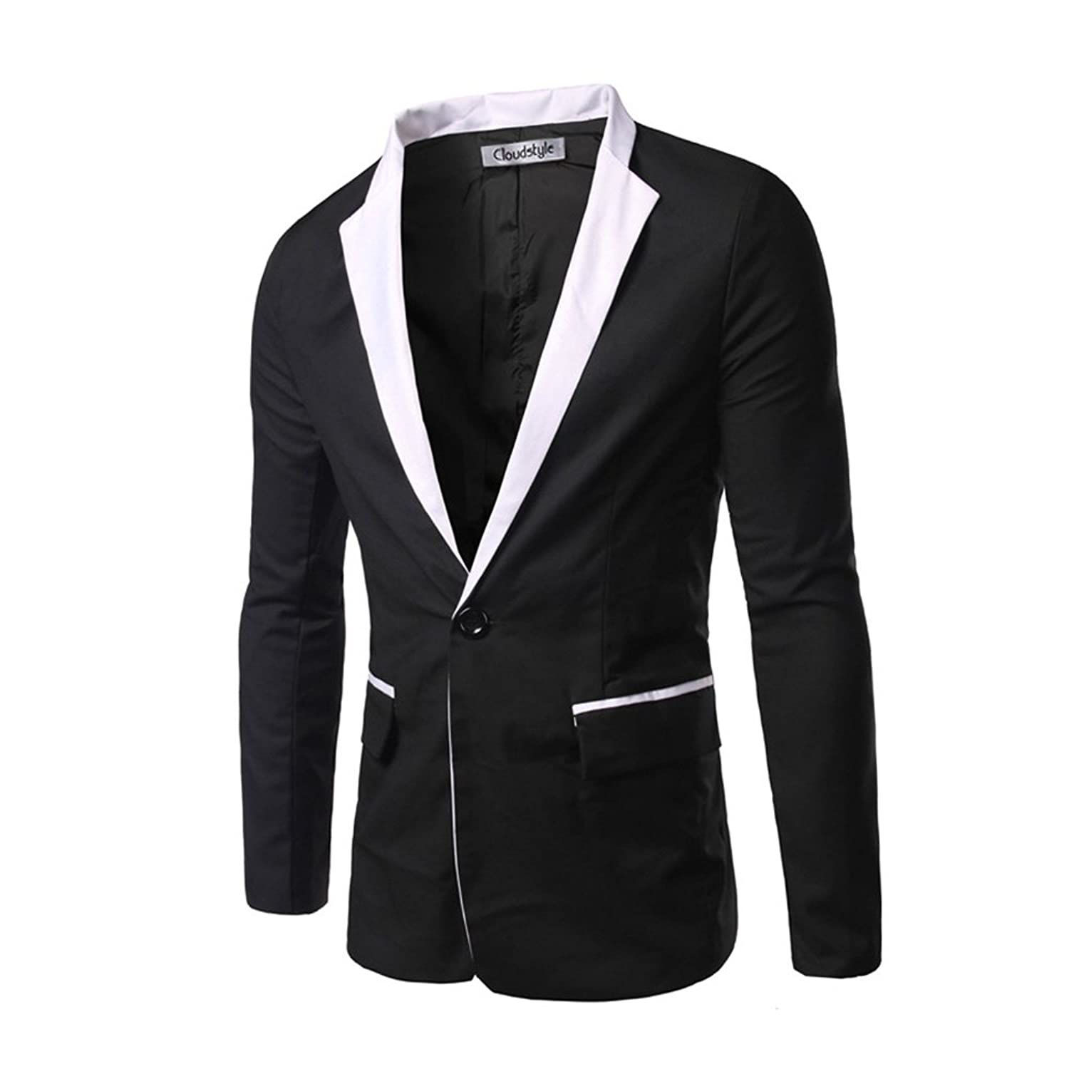 Cloud Style Men's One Button Groom Tuxedo Studio Casual Dress ...