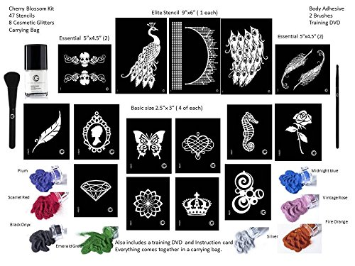 G Body Art Peacock Glitter Tattoo Kit by G Body Art Professional (Image #2)