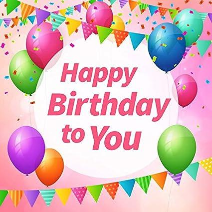 5ftx7ft happy birthday Globo photocall cumpleaños fondo de ...