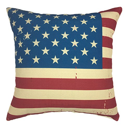 YOUR SMILE Independence Day Cotton Linen Square Decorative T