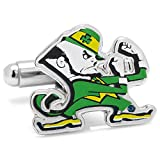 NCAA Notre Dame Fighting Leprechaun Cufflinks, Officially Licensed