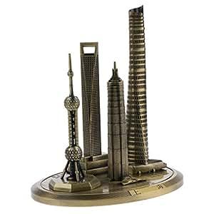 """MagiDeal Shanghai Skylines Arquitectura Edificio réplica Souvenir Coleccionable de 7,9"""""""