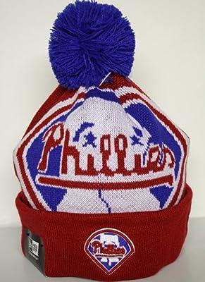 New Era Woven Biggie Philadelphia Phillies Knit Hat Red