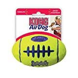KONG Air Dog Squeaker Football Dog Toy, Medium, Yellow