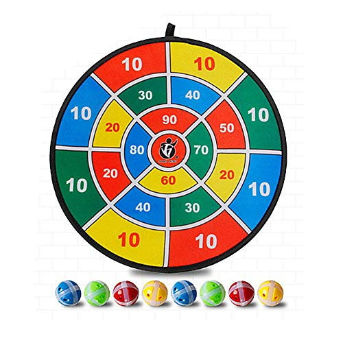 (Highjump Children Training Sticky Darts Board Set,Dartboard Children Training Sticky Ball Toys,Dart Equipment for Kids,1 Children's Toy Dartboard,8 Sticky Balls)