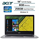 2018 Flagship Acer Swift 3 Laptop, 14 LED-backlit Widescreen FHD IPS Display, Intel Core i5-8250U Processor at 1.6GHz, 8 GB DDR4 SDRAM, 256 GB Solid State Drive, Windows 10 Home