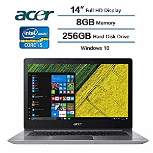 """2018 Flagship Acer Swift 3 Laptop, 14"""" LED-backlit Widescreen FHD IPS Display, Intel Core i5-8250U Processor at 1.6GHz, 8 GB DDR4 SDRAM, 256 GB Solid State Drive, Windows 10 Home"""