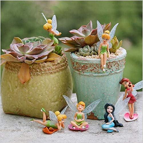 LVA Accesorios de jardín de Hadas – 6 Piezas/Set Miniatura de Hadas Artificiales de Flores Mini Dibujos Animados Elf Micro Paisaje decoración hogar jardín DIY Accesorios Craft: Amazon.es: Jardín