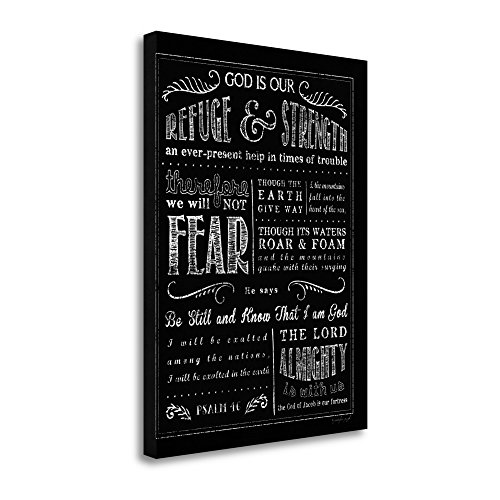 ''Chalkboard Psalm 46'' By Jennifer Pugh, Fine Art Giclee Print on Gallery Wrap Canvas, Ready to Hang by Tangletown Fine Art