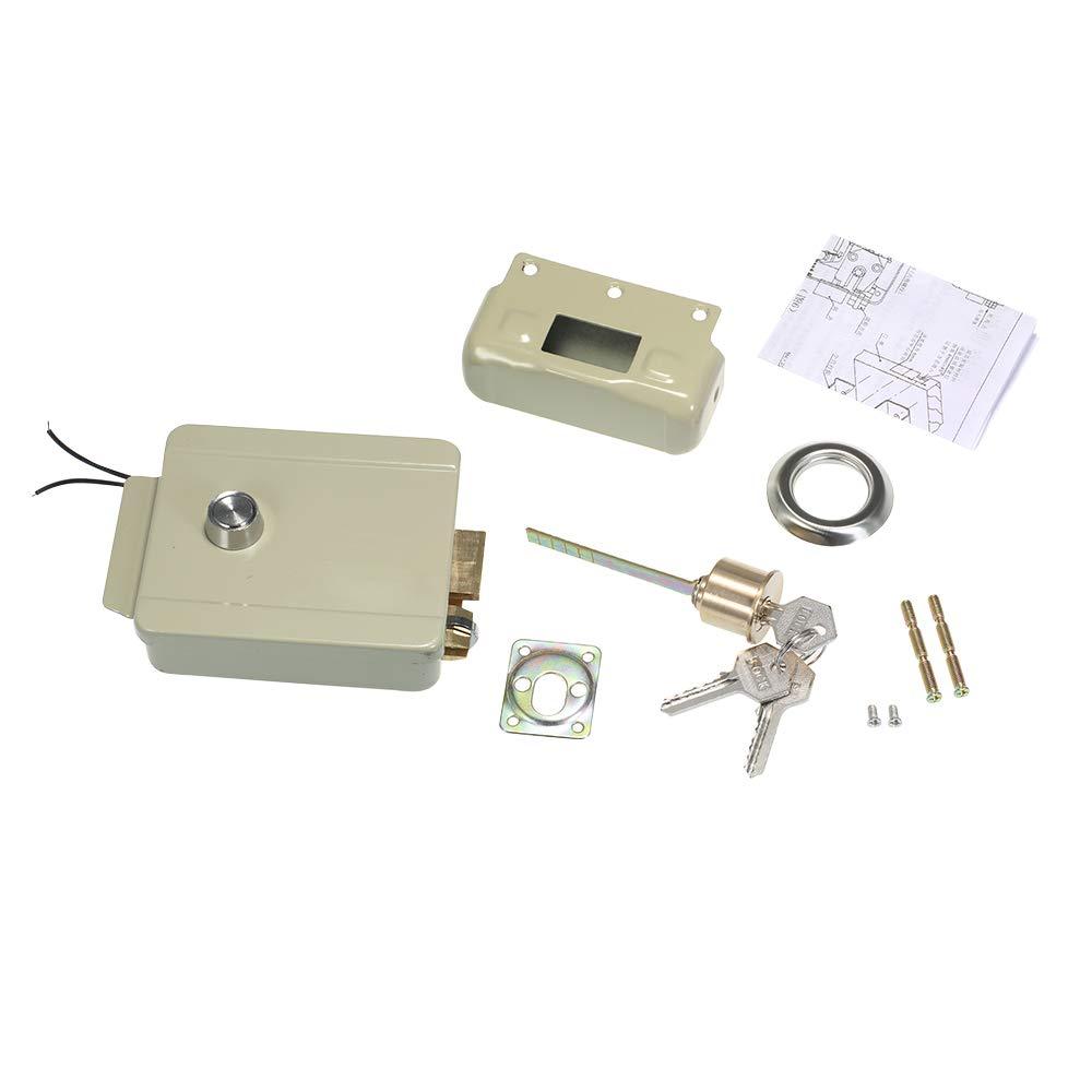 Festnight Elektrische T/ürverriegelung Electric Lock Door Rechtsh/änder Er/öffnung F/ür T/ürklingel Intercom Zugriffskontrollsicherheitssystem