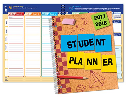 Dated Elementary Planner for Academic Year 2017-2018 (Matrix Style - 8.5