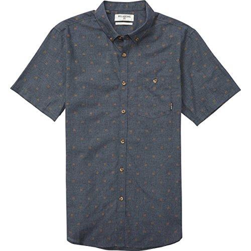 (Billabong Men's All Day Jacquard Short Sleeve Shirt, Navy Heather, 2XL)