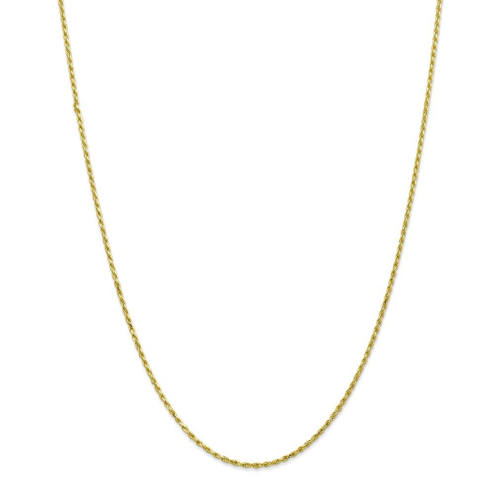 10k Yellow Gold 2mm Machine Made D/C Rope Chain Necklace or Bracelet 10M014