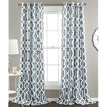 Amazon Com Lush Decor Rosalie Window Curtains Farmhouse