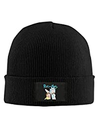 NVVM Rick And Morty Men & Women Knitted Beanie Cap Hat Ski Cap Hat Black