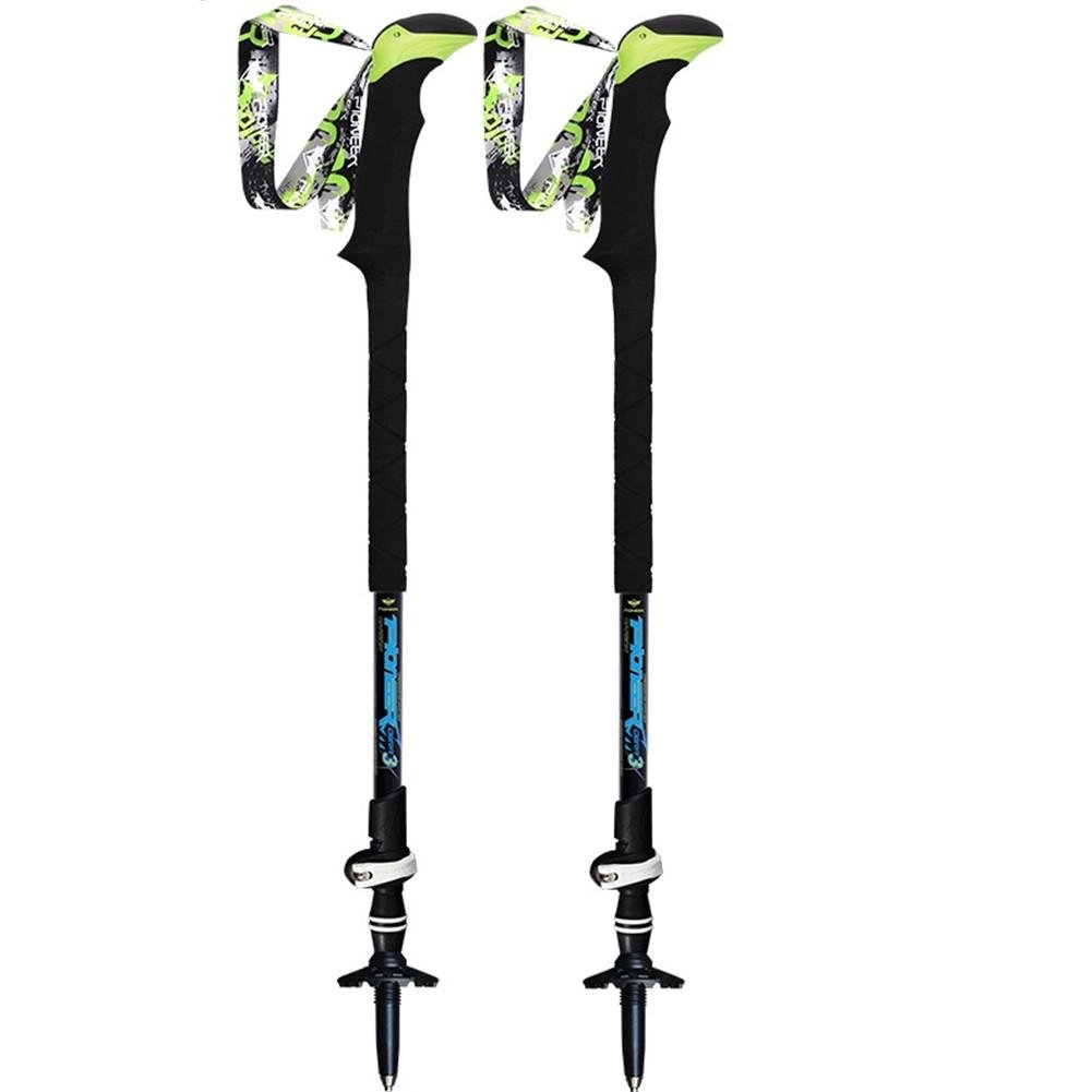 Wandern Stick EVA Griff Carbon Faser Ultra-Light Mountaineer Stick 3 Sektion Verstellbarer Outdoor Walking Pole Alpenstock Trekking Stöcke für Ski Wandern Trekking Walking