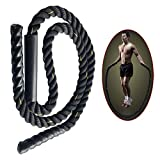 "Ueasy Heavy Jump Rope Skipping Ropes Power Training to Improve Strength, Endurance Agility (2""x9.9′(Diameter x Length), 10LB)"